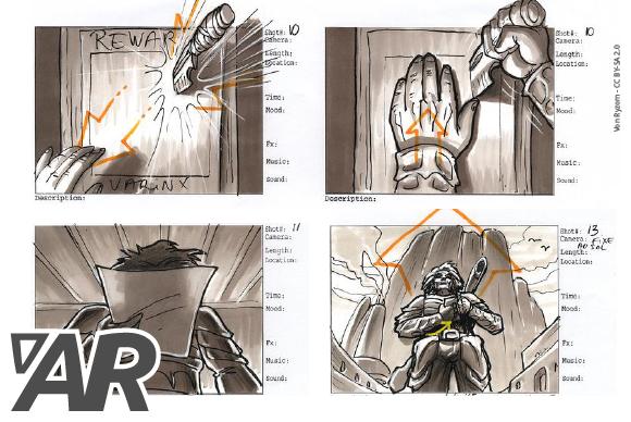 Kreative Storyboardzeichner*in für Augmented Reality (AR) Game gesucht